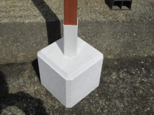 コンクリート立て台斜めバージョン
