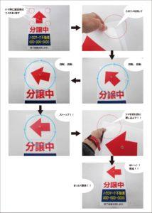 矢印が回る誘導看板説明